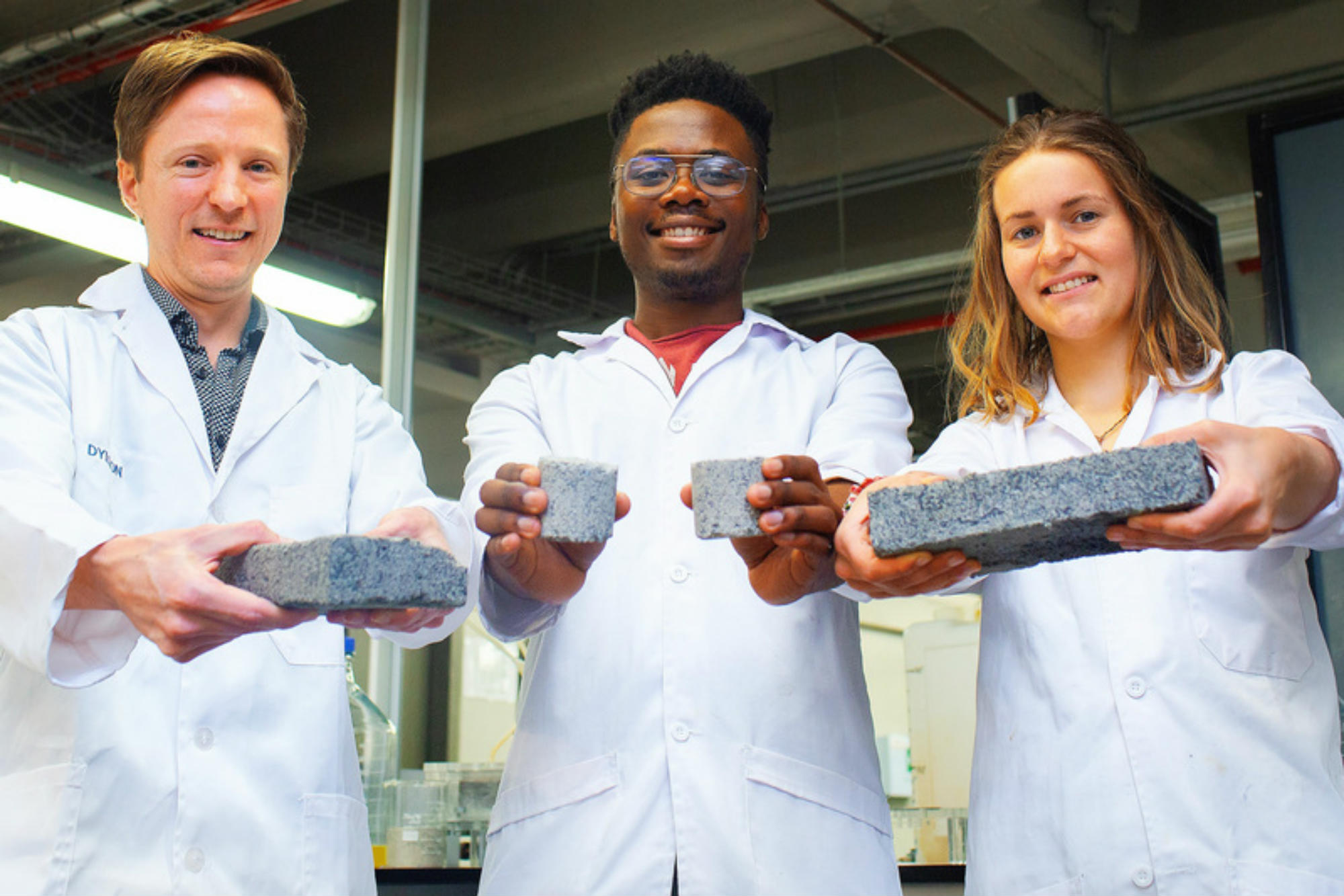 Students develop bricks from human urine
