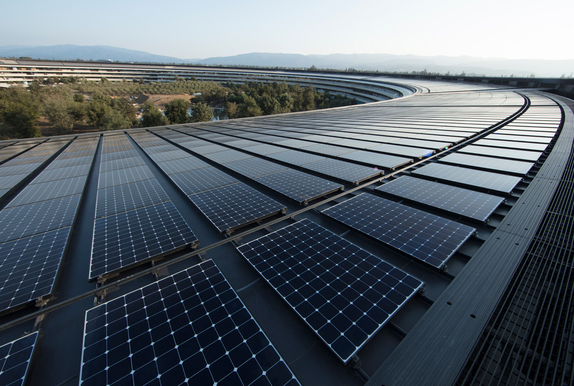 Since April, Apple is using energy from a renewable source
