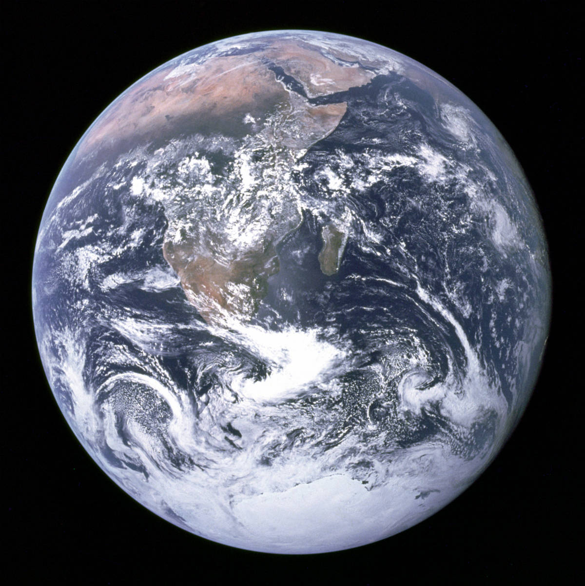 The Blue Marble (a Terra azul). Crédito: Nasa