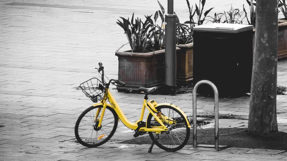 Bicicleta Yellow. Crédito: Marcus Wallis/Unsplash